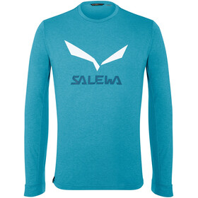SALEWA Solidlogo Dry T-Shirt À Manches Longues Homme, blue danube melange